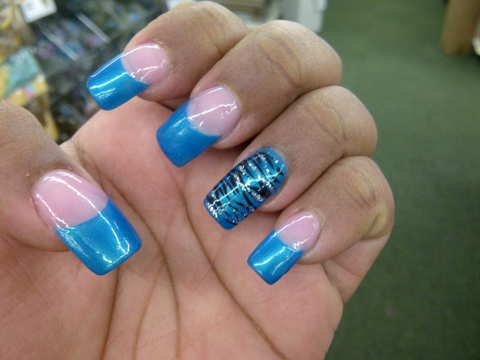 The Amusing Zebra print nail art designs Picture