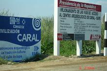 Entrada a Caral en Supe Peru 2009 asfaltada