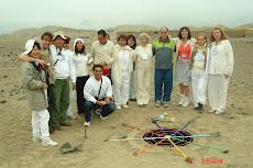 Ceremonia de la apertura del portal 888 Caral Peru 8/08/2008