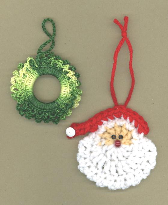 My Little Blue House Santa And A Wreath