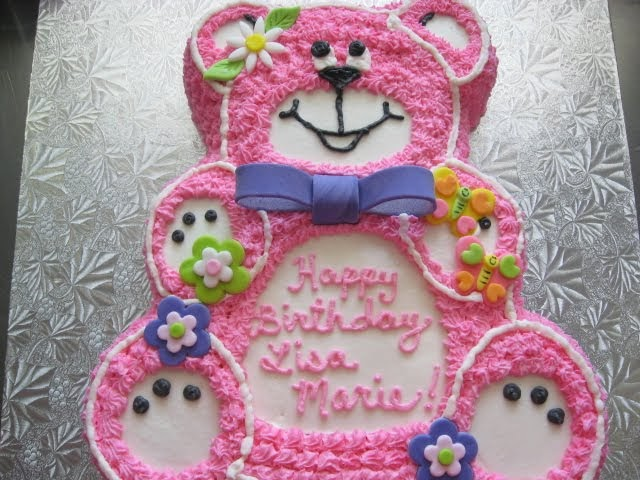 Clineff S Confections Pink Teddy Bear Cake