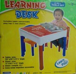 Learning Desk 3 in 1 Table Set