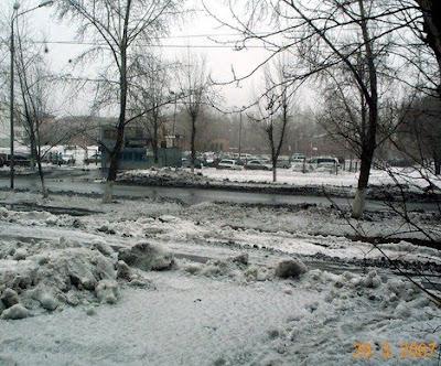 грязный снег, весна