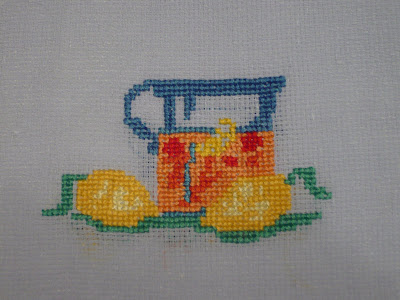 схема, вышивка крестом, лимонад