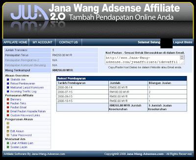 buat duit online dengan affiliate