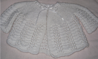 One Piece Baby Sweater Knitting Pattern : BABY CARDIGAN KNITTING PATTERN ONE PIECE   KNITTING PATTERN