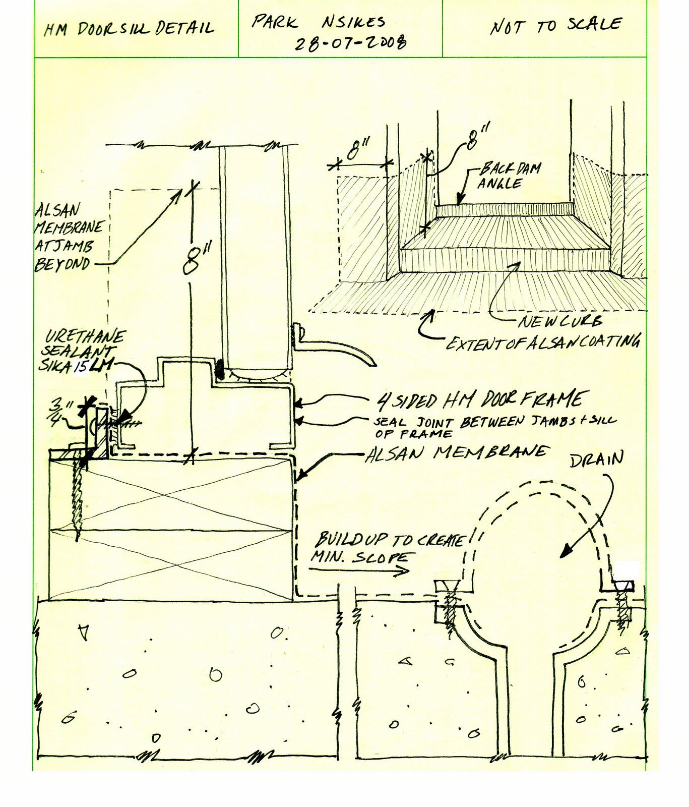 Building Envelope Blog Door Details At Sliding Glass And Hollow Metal
