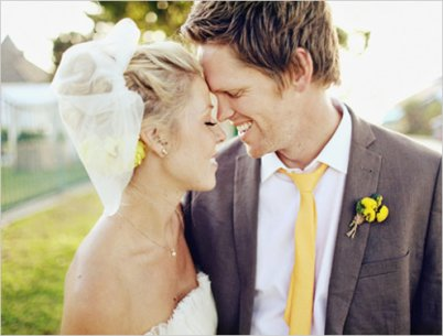 love the grey and yellow tuxedo idea