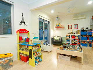 Playroom and office diy renovation for Home office playroom design ideas