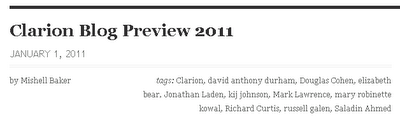 Clarion Blog Preview 2011