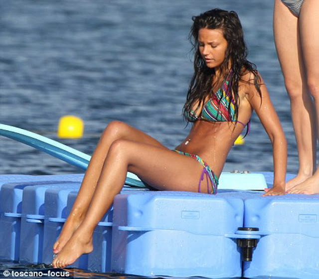 Michelle Keegan sexy bikini on Yacht