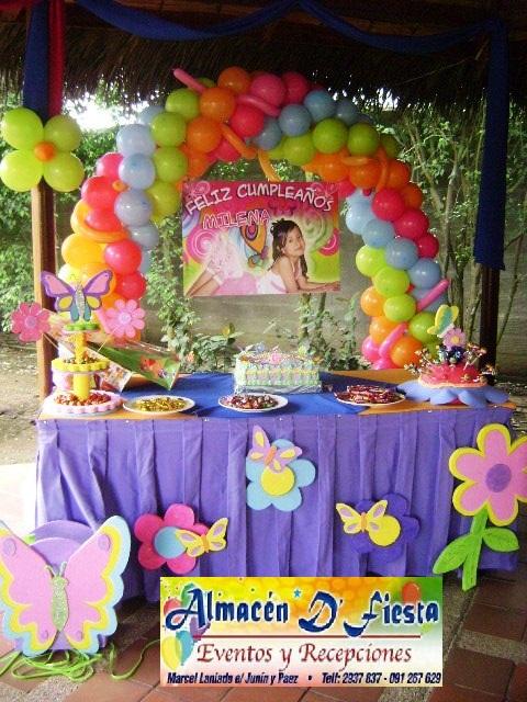 Decoración de fiestas de mariposas y flores - Imagui