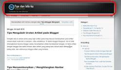 Gambar header blogspot