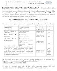 Seminari professionalizzanti sul CRM