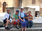 Grandma Sue and boys in Panicale