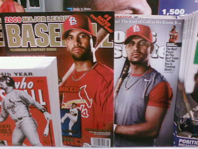Albert Pujols on the cover of Sports Illustrated and Fantasy Baseball Magazine
