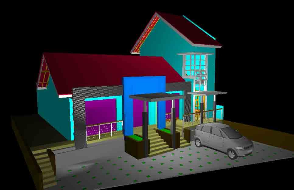 Desain Rumah Usaha Dokter Saeful - Wates