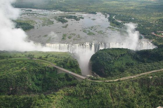 Amazing Waterfall in Africa