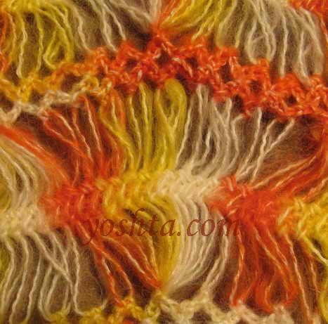 вязание крючком пледы схемы