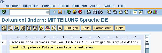 SAPscript-Editor