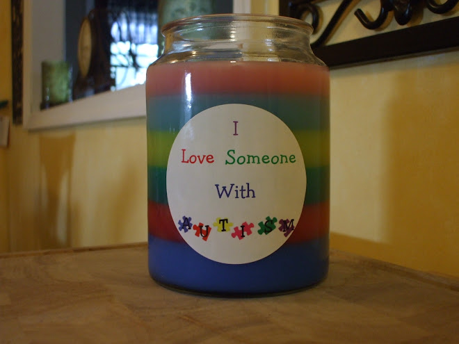 My Special Autism Candle I made