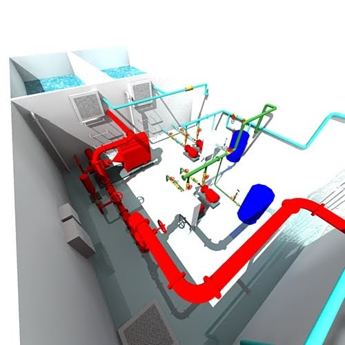 Juan h santiago pump room in sketchup layout for Sketchup room layout