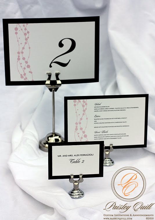 Pink Swirl Wedding Accessories