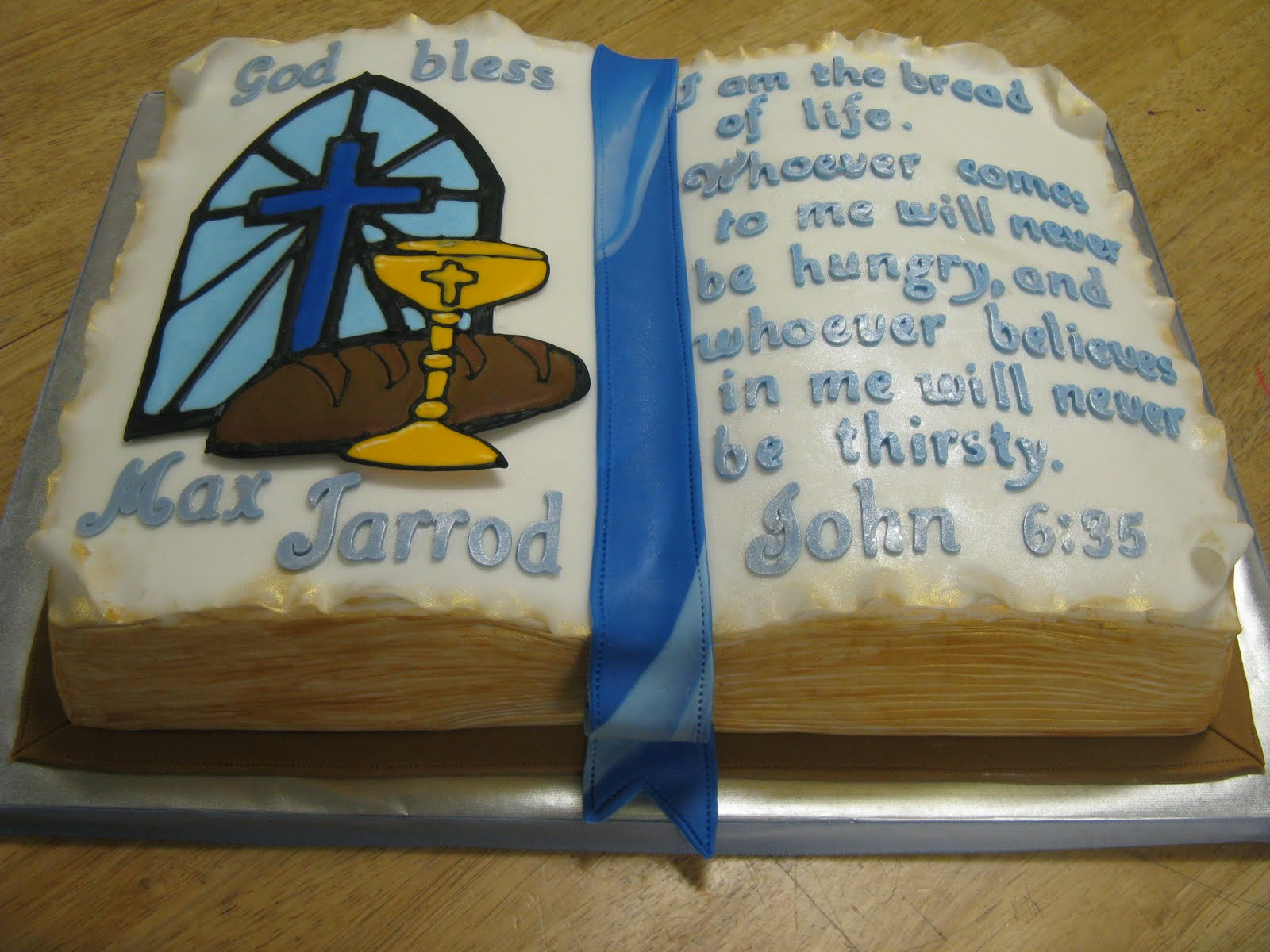 Sweet Dreams Cake Design Communion Bible Cake
