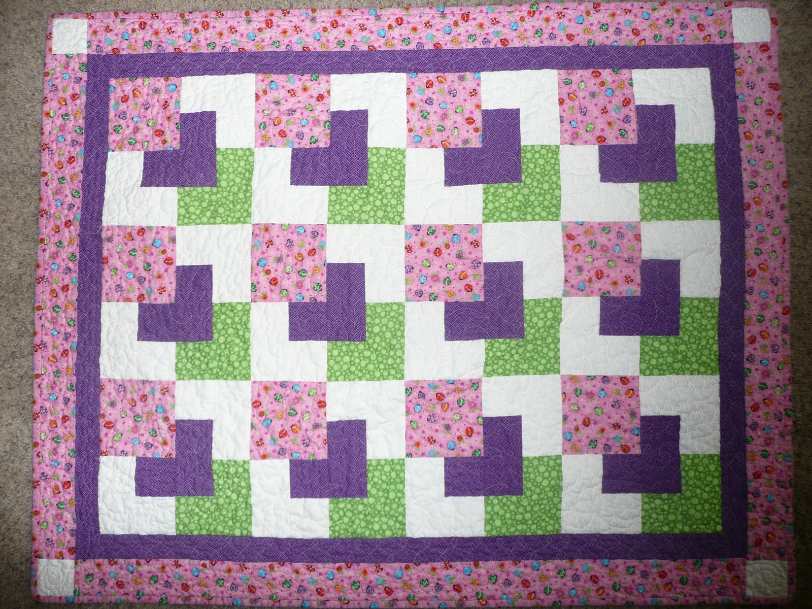 Easy Quilt Patterns For Baby : Here are simple Free Printable Quilt Patterns For Baby In A Few Hours