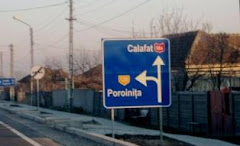 DN 56A si indicator spre satul Poroinita