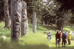 Viewing Totems at Ninstints