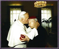 Pope John Paul II and Cardinal Kung