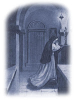 Nun Praying Before Crucifix