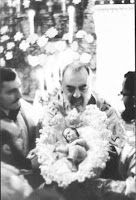 St. Padre Pio and Baby Jesus