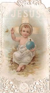 Gesu Bambino Holy Card