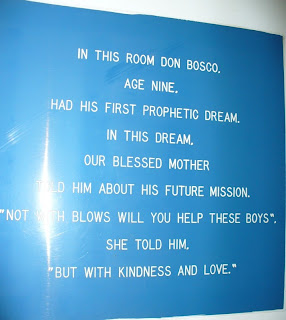 Sign in Don Bosco bedrrom
