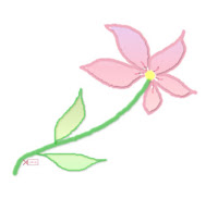 Handrawn Flower ecg