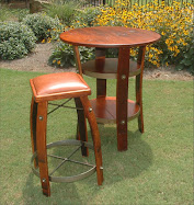 Leather Stool & Table