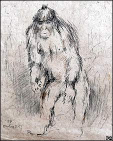 best bigfoot drawings