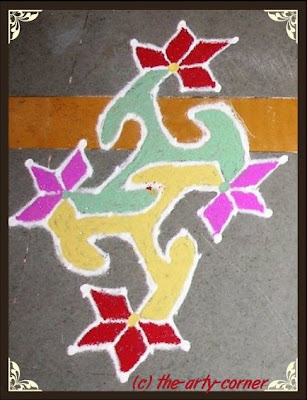 Dots Rangoli. Note: Click image for larger view.