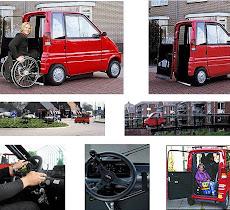 Veículo conduzido através da cadeira de rodas