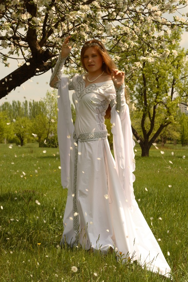 Wedding destinations medieval celtic wedding dress for Medieval inspired wedding dresses