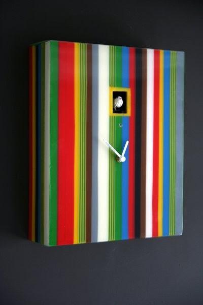 Bb blog diamantini domeniconi striped cuckoo clock - Funky cuckoo clock ...