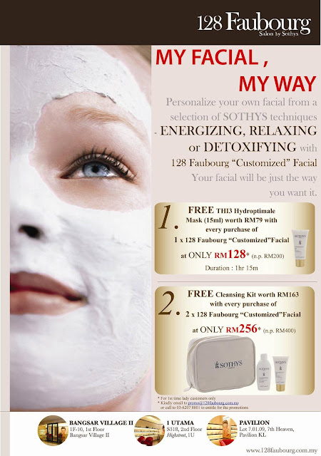 Cyb chea yee 39 s blog malaysia e promotion by 128 for 128 faubourg salon by sothys