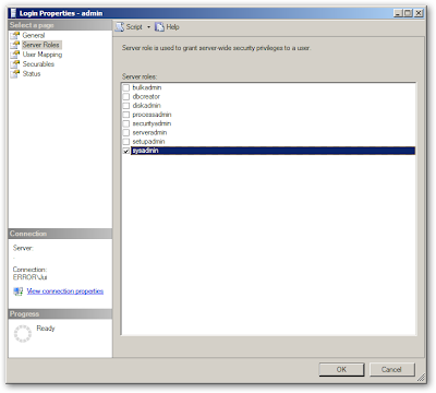 how to add a user to the db_owners roles sql2014