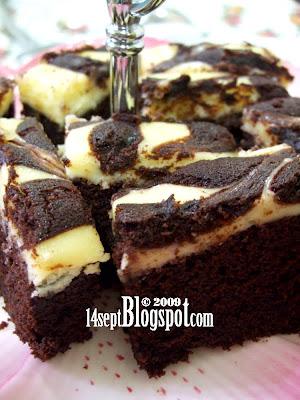 Kek Marble Cheese Brownies Resipi Rinnchan Aku Tak Sempat Rasa Pon