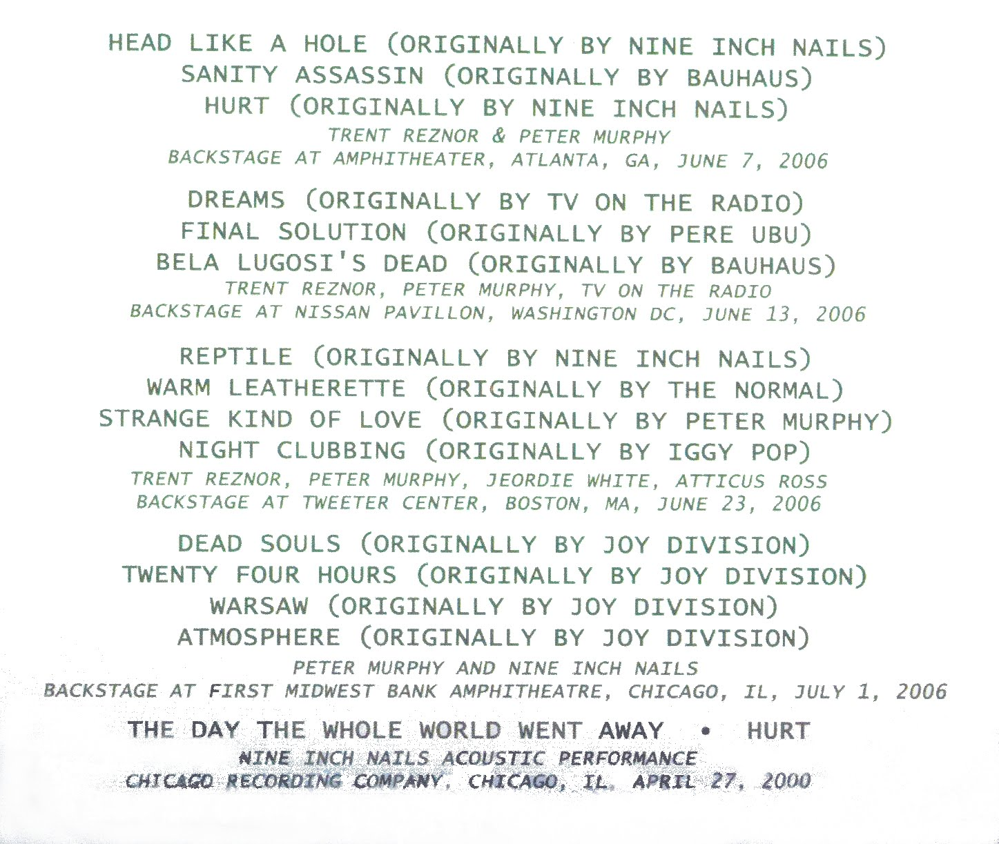 Nine Inch Nails Lyrics Tumblr images