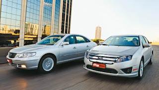 O Antagonista Natural Do Novo Ford Fusion V6, Que Você Conheceu  Recentemente, é O Hyundai Azera. Os Dois Têm Porte Semelhante, Motor V6,  Equipamentos Em ...