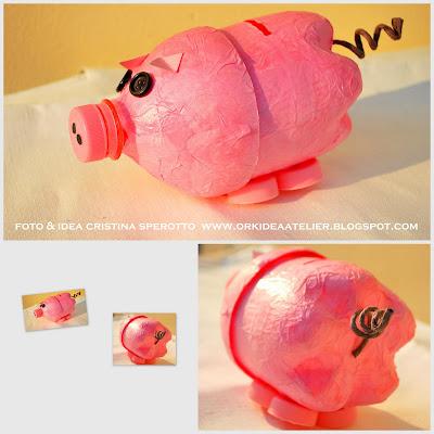 Копилка свинка из бутылки