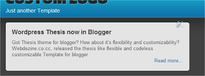 featured widget Announcing Wordpress Thesis Blogussion for Blogger